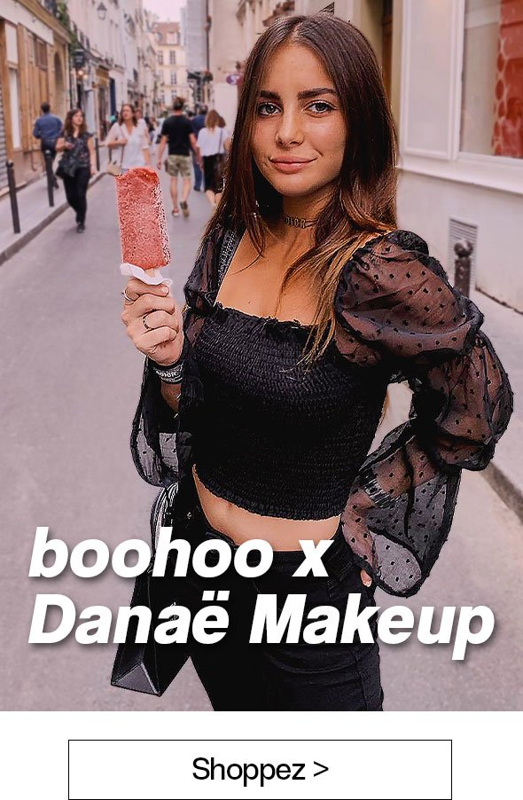 codes promo boohoo valable sur la collection Danaé Makeup